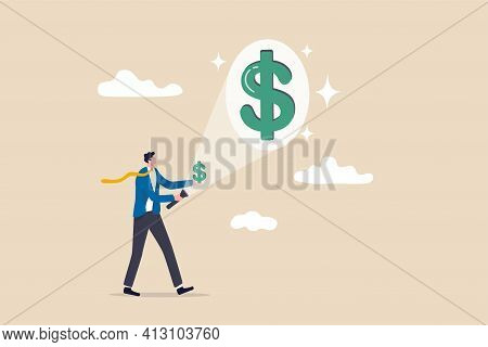 Make Money Or Increase Earning From Investment, Salary Or Income Increase, Profitability Concept, Bu