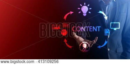 Content Marketing Cycle - Creating, Publishing, Distributing Content For A Targeted Audience Online