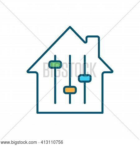 Adjustable-rate Mortgage Rgb Color Icon. Variable-rate Mortgage. House Purchasing. Fixed Initial Int