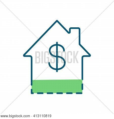 Rent-to-own Home Rgb Color Icon. Gaining Ownership. Down Payment. Rent-to-own Agreement. Lease-purch