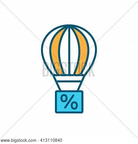 Balloon Mortgage Rgb Color Icon. Paying Off Full House Loan Balance In Lump Sum. Fixed-rate Deal. Ba