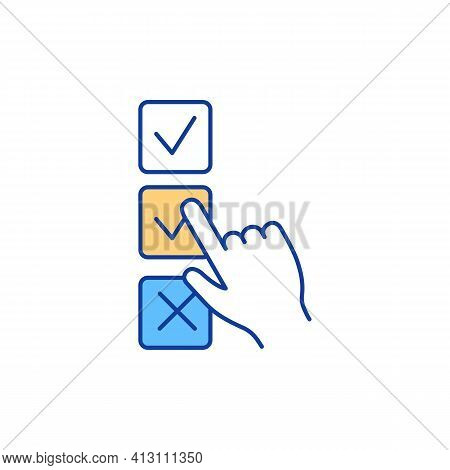 Voting Rgb Color Icon. Making Choices, Collective Decision. Participation In Democratic Process. Inf