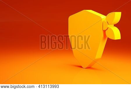 Yellow Vandal Icon Isolated On Orange Background. Minimalism Concept. 3d Illustration 3d Render