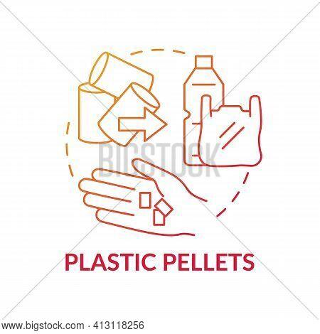 Plastic Pellets Concept Icon. Idea Thin Line Illustration. Microplastics Sources. Ocean Pollution. H