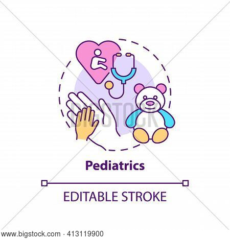 Pediatrics Concept Icon. Children Healthcare. Professional Clinical Support For Kids. Family Doctor
