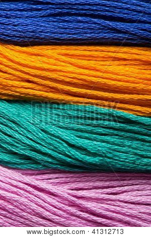 Colored wools.