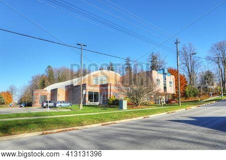 Ingersoll, Ontario, Canada - November 4: The Victoria Park Community Centre On [november 4, 2020] In
