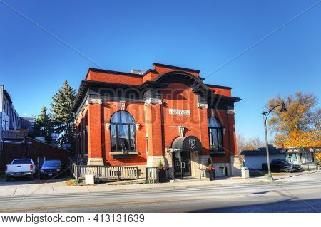 Ingersoll, Ontario, Canada - November 4: A Carnegie Library On [november 4, 2020] In [ingersoll]