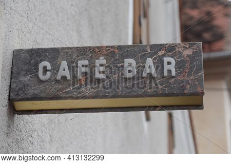 Cafe Or Coffee House Sign, Beverage And Catering In Gastronomic Business