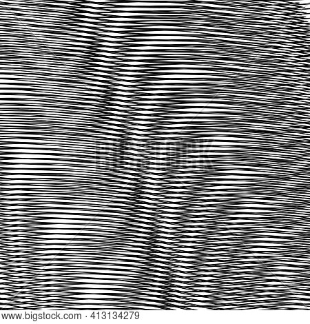 Wavy Futuristic Abstract Texture With Diagonal Lines And Moire Effect. Grey Monochrome Background Sa