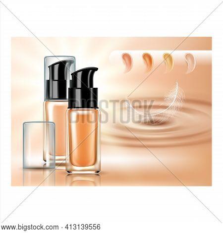 Concealer Tonal Cream Promotional Poster Vector Illustration