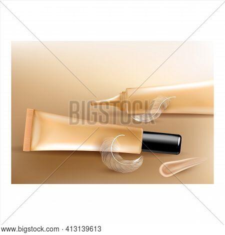 Concealer Skin Package Promotional Banner Vector Illustration
