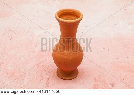 Small Earthenware Pot - Clay Object; Make It By Hand.
