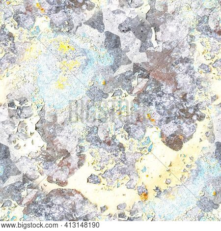 Grungy Abstract Dirty Texture. Grunge Grain Illustration. Rusty Paint Brush Surface. Distress Dust C