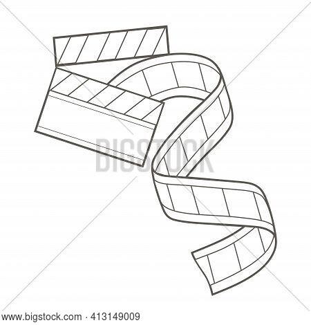 Filmstrip Icon. Simple Linear Vector Monochrome Illustration