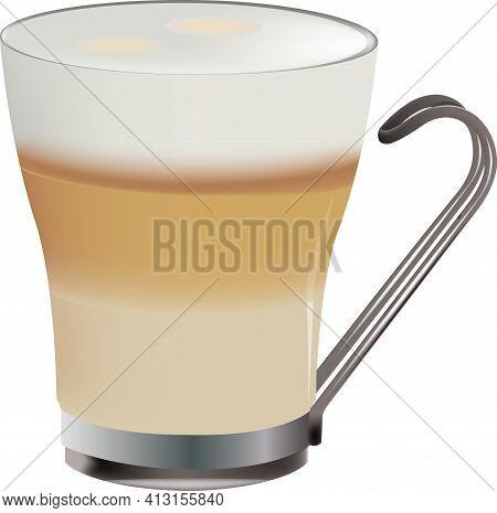 Glass Of Coffee And Milk Glass Of Coffee And Milk