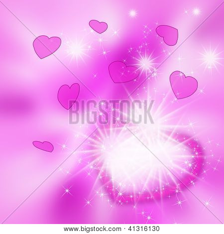 Original Abstract Pink Background To The Valentine's Day