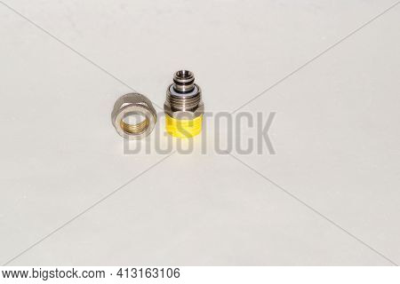 Screw Fitting Equipment , Brass Threaded Nipple Brass Fitting Clipping Paths