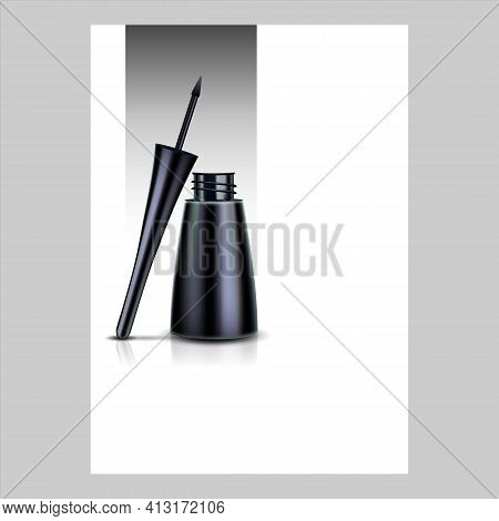 Eyeliner Beauty Accessory Promo Poster Vector Illustration