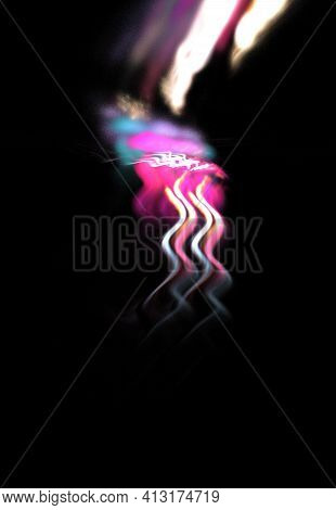Abstract Background, Unique 3d Illustration, Multicolored Fractal Composition For Graphic And Design