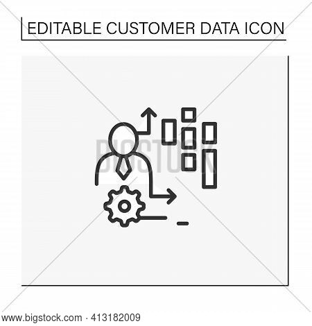 Behavioral Date Line Icon.observation Insights Into The Behavior Of Consumers On Platforms, Online G
