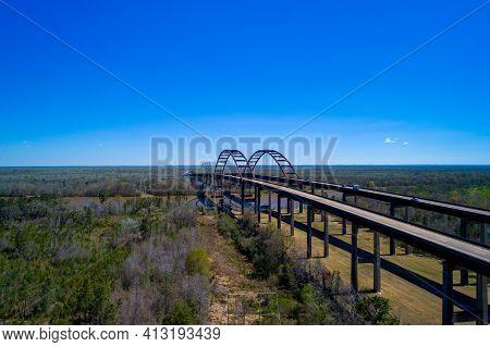 A Bridge Over Mobile River Near Mobile, Alabama