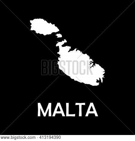 Malta Map. High Detailed Map Of Malta On White Background. Vector Illustration Eps 10.