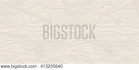 Light Beige Wood Texture Background. Natural Pattern Swatch Template. Realistic Plank. Wooden Grain
