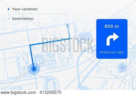 Smart car GPS screen navigator interface