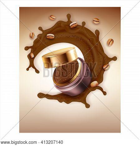 Coffee Bean Scrub Creative Promotion Poster Vector