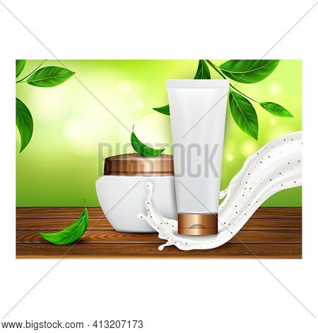Body Scrub Creative Promotional Poster Vector Illustration