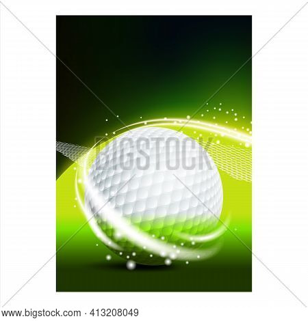 Golf Sport Field Ground Event Flyer Banner Vector