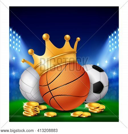 Sport Live Betting Creative Promo Banner Vector