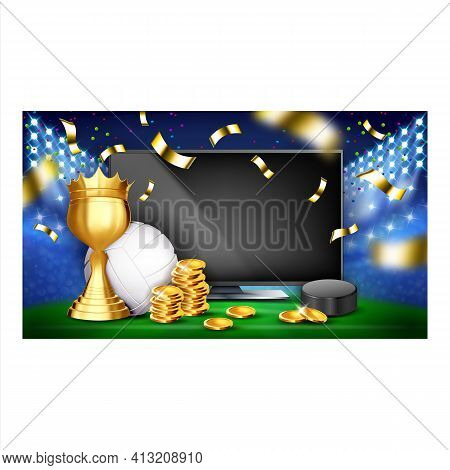 Betting Sport Game Creative Promo Poster Vector