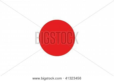 Illustrated Drawing of the flag of Japan