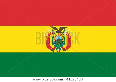 Illustrated Drawing of the flag of Bolivia