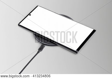 Wireless charger mockup digital device