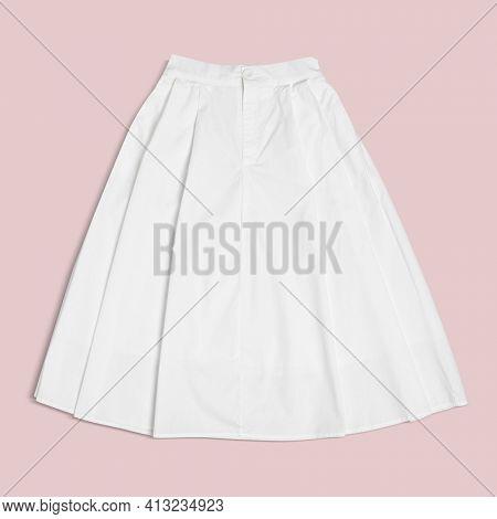 White flared skirt women's apparel
