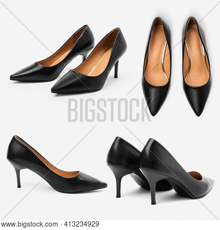 Women's black high heel shoes fashion collection