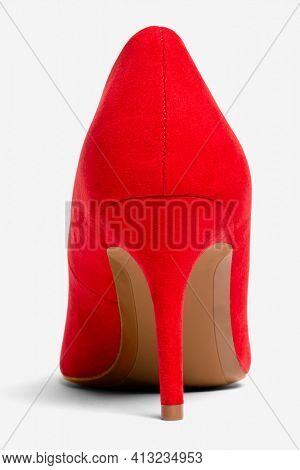 Women's red high heel shoes formal fashion
