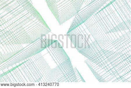 3d Illustration Technology Background Abstract Technology Light Line The Level Of The Green Line On