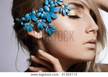 beautiful fashionable woman with jewellry