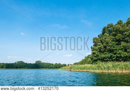 Landscape On A Lake In Potzlow, Germany.