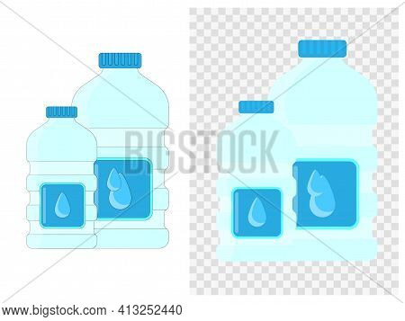 The Biggest Plastic Water Bottle Barrel Shaped Design With Fourth Puddening And Clipping Path Isolat