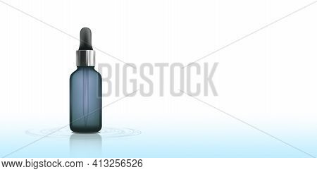 Beauty Products Placed On The Water Surface Pure As Water Skin Care Products Women Products Clean As