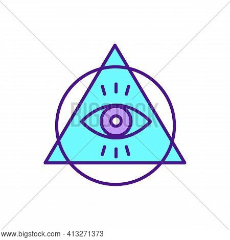 Conspiracy Theory Rgb Color Icon. Secret Plan Made By Powerful Group. Conspiracist Ideation In Mass
