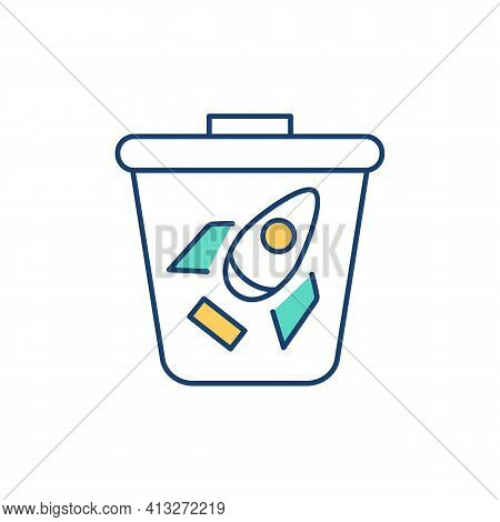 Fast Composting Rgb Color Icon. Speed Cleaning. Composting Process. Garbage Disposal. Garden And Kit