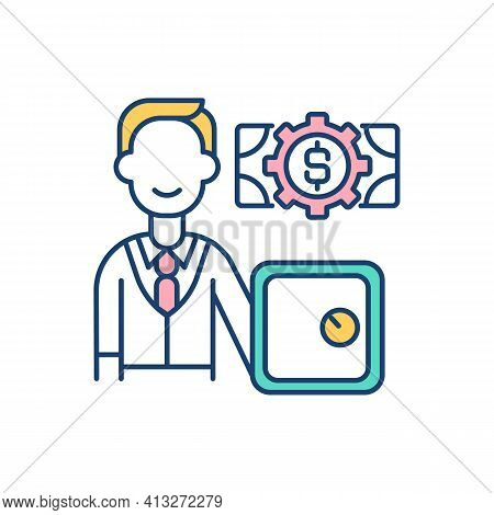 Bank Account Rgb Color Icon. Financial Transactions. Money Management. Personal, Company Account. Ba