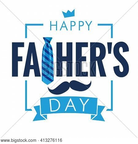 Happy Fathers Day Calligraphy Quote Light Banner. Happy Father's Day Vector Lettering Background. Da
