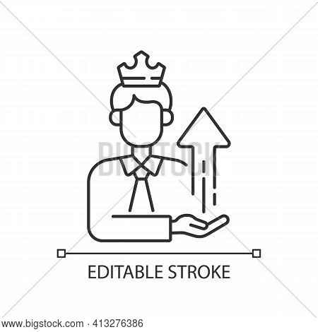 Power Broker Linear Icon. Increase Influence From Assistance. Gain Patronage, Increase Privilege. Th